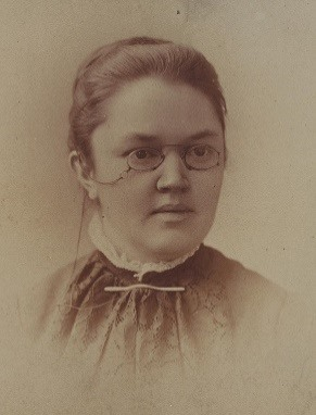 "Katharine Lee Bates, author of ""Goody Santa Claus on a Sleigh Ride"""